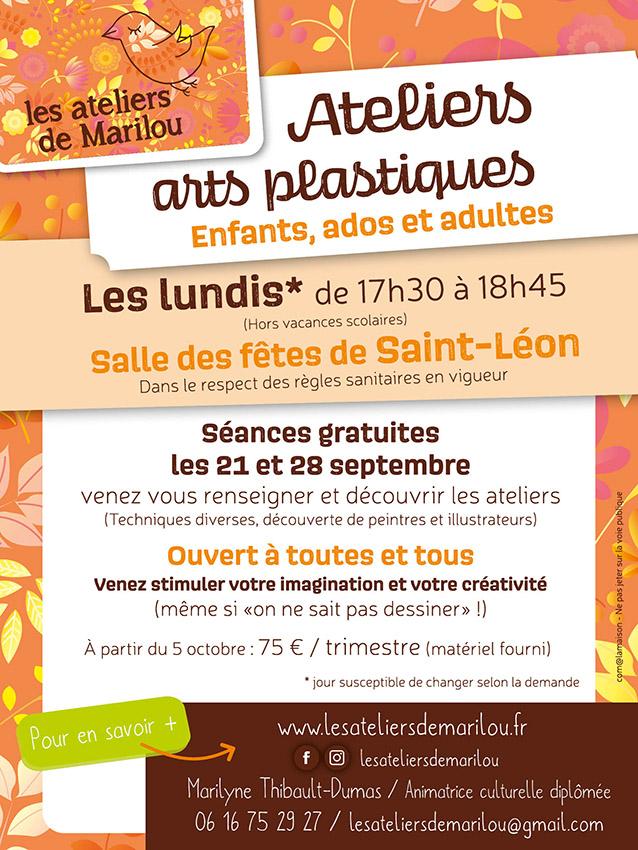 Ateliers Marilou Arts plastiques Allier Saint-Léon